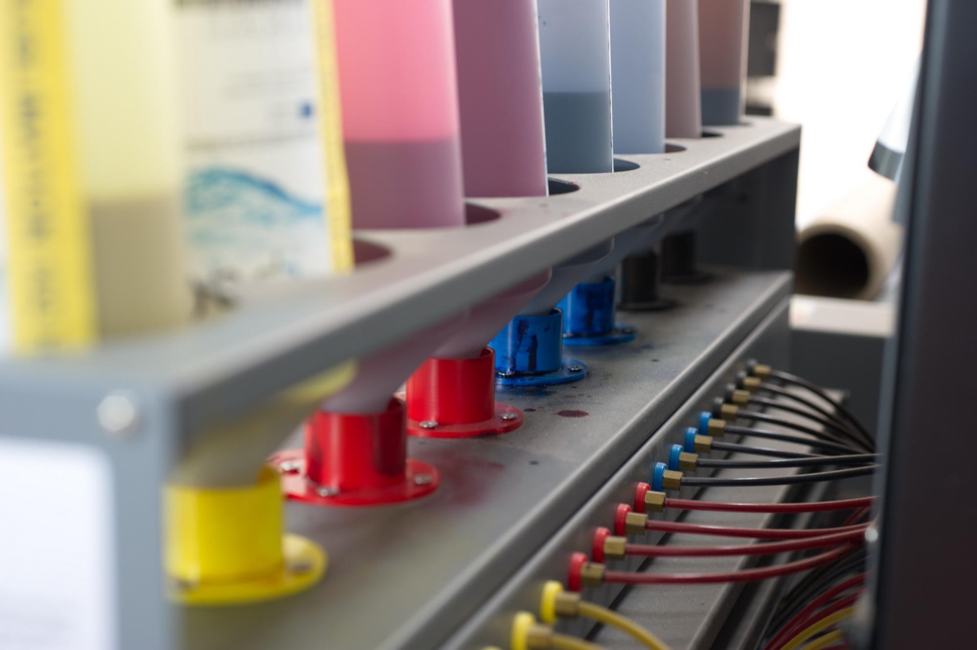 Farbstation der Teleios d-gen © Atelier Haase - Foto: Katharina Hansen-Gluschitz