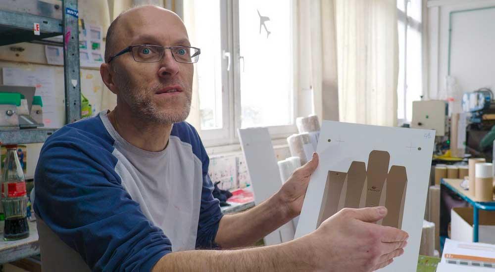 Karsten, der Siebdrucker © Atelier Haase - Foto: Delmar Mavignier