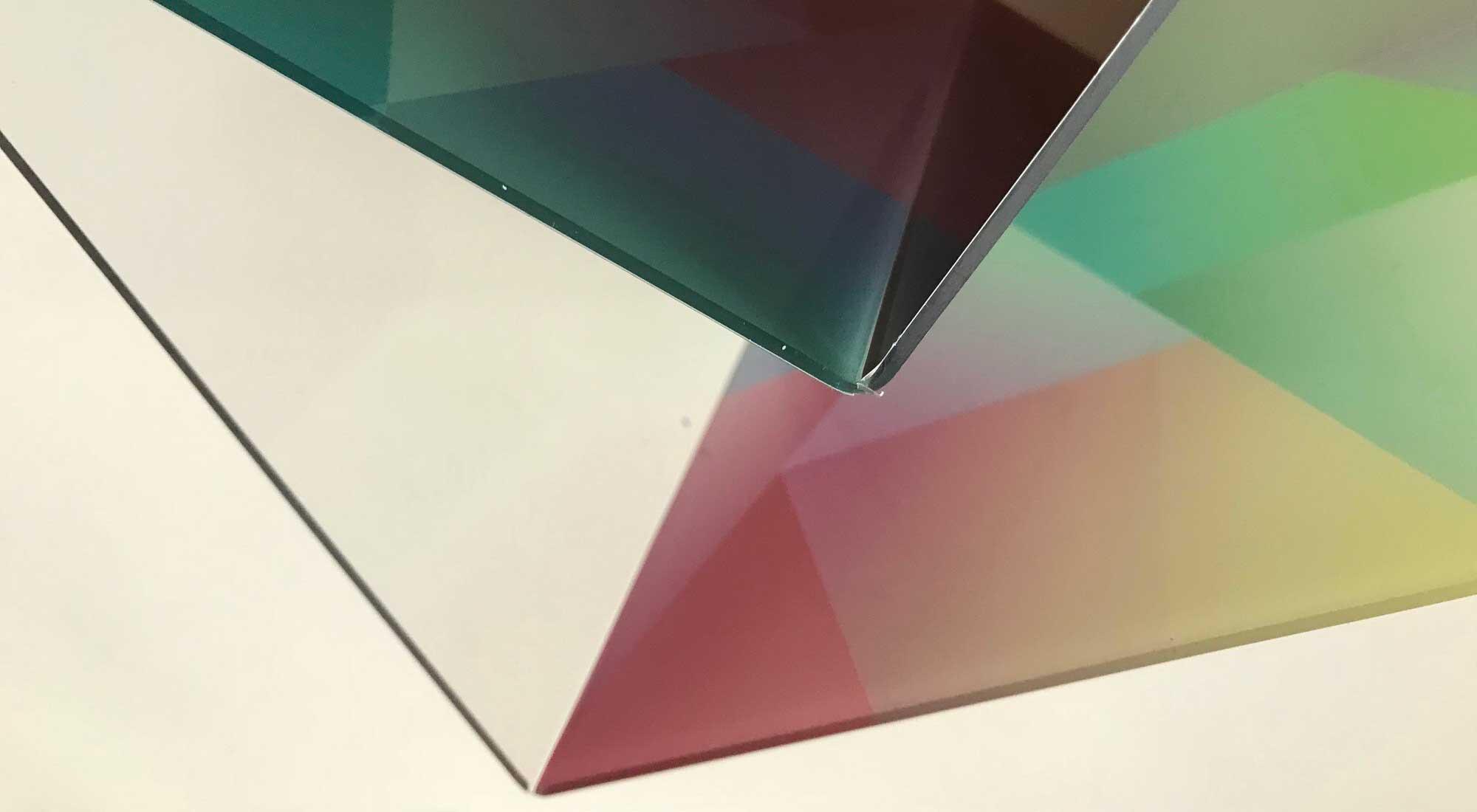 Gekantete und bedruckte Acrylplatten © Atelier Haase - Foto: Katharina Hansen-Gluschitz