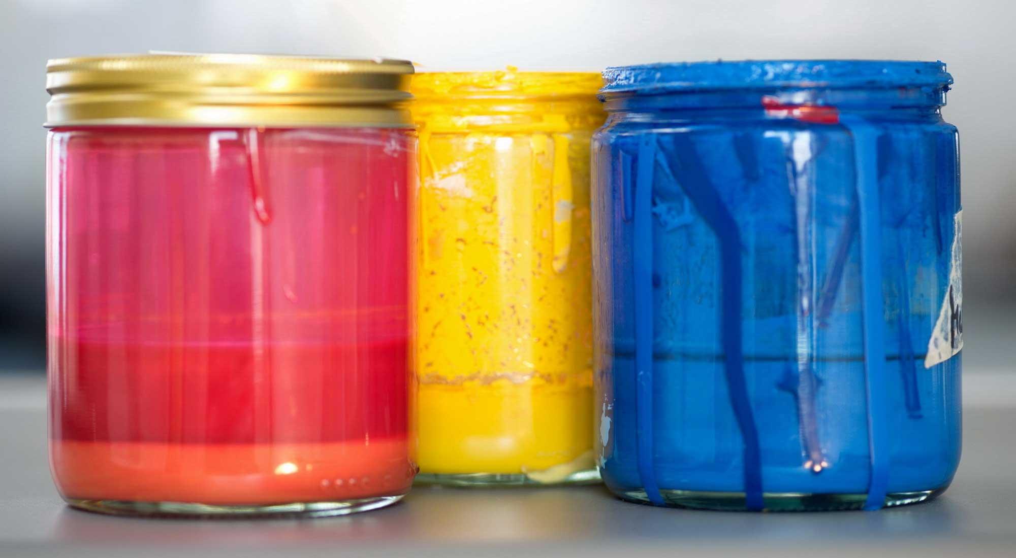 Siebdruckfarben © Atelier Haase - Foto: Hans-Heinrich Haase