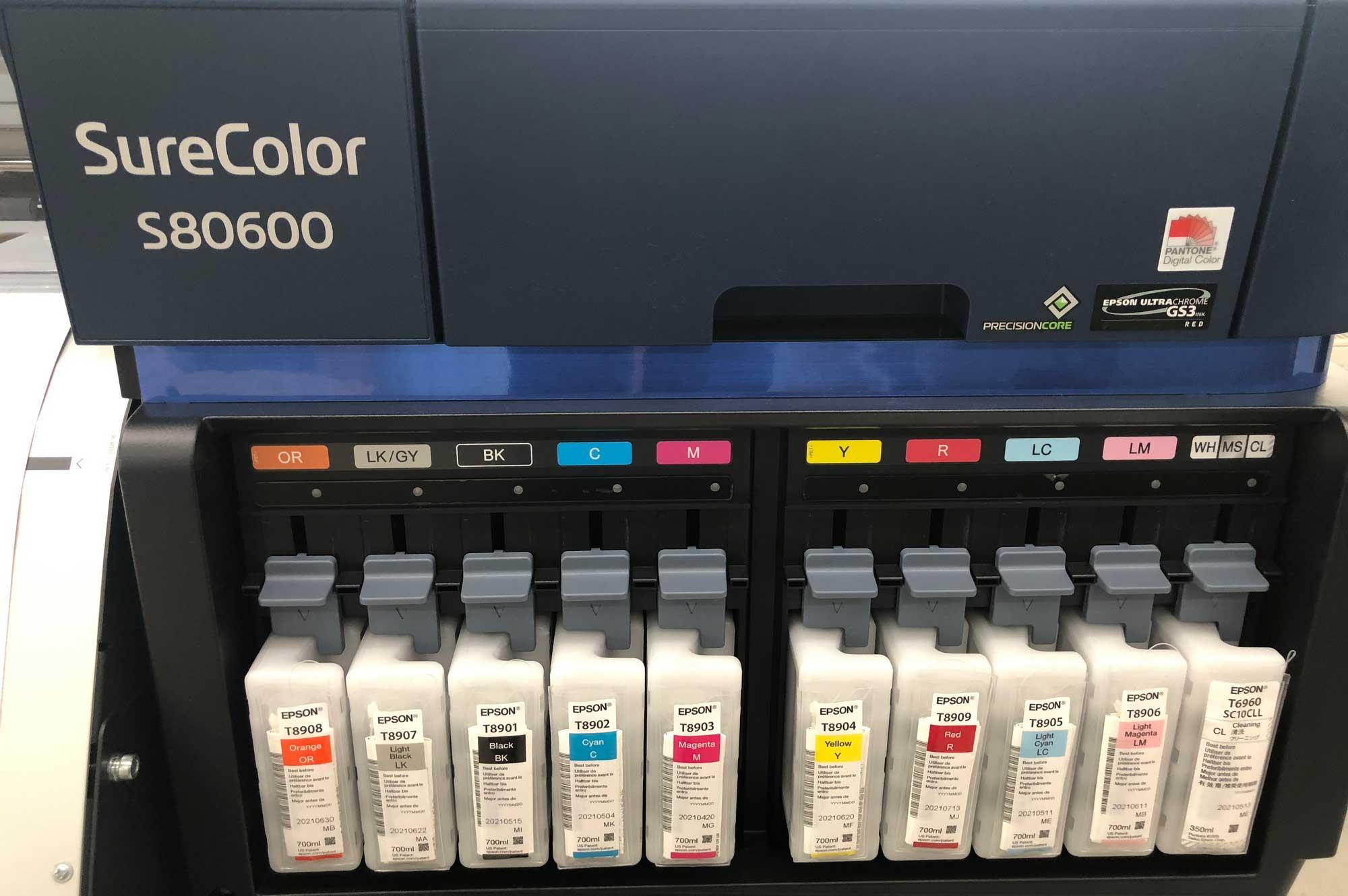 Farbkartuschen der Epson- Sure Color SB 0600 © Atelier Haase - Foto: Hans-Heinrich Haase