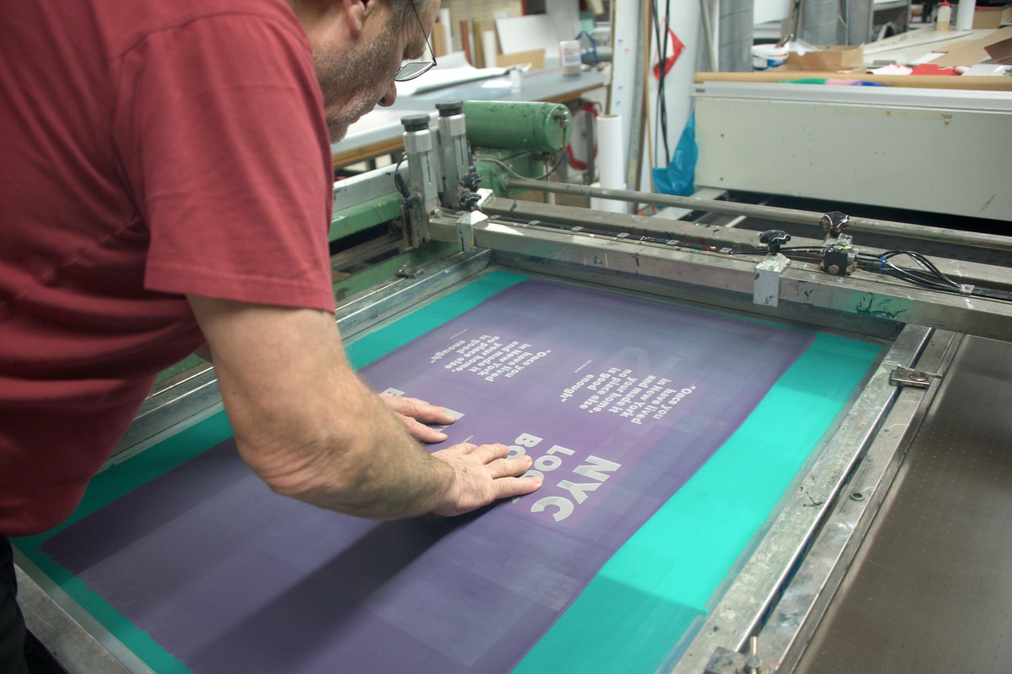 Siebdruckeinrichten H.-H. Haase © Atelier Haase - Foto: Katharina Hansen-Gluschitz